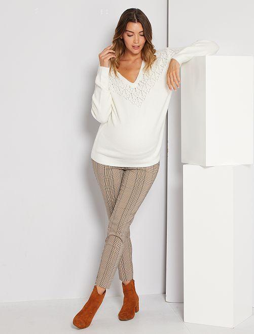 Pantalon de maternité                                         marron