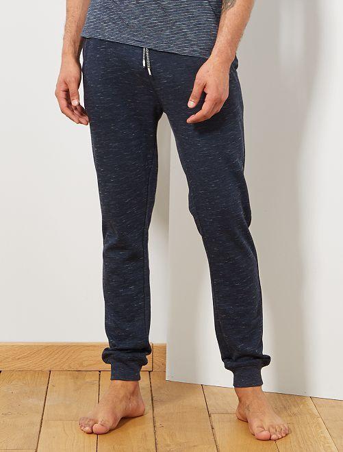 Pantalon de nuit molletonné                                                     bleu pétrole