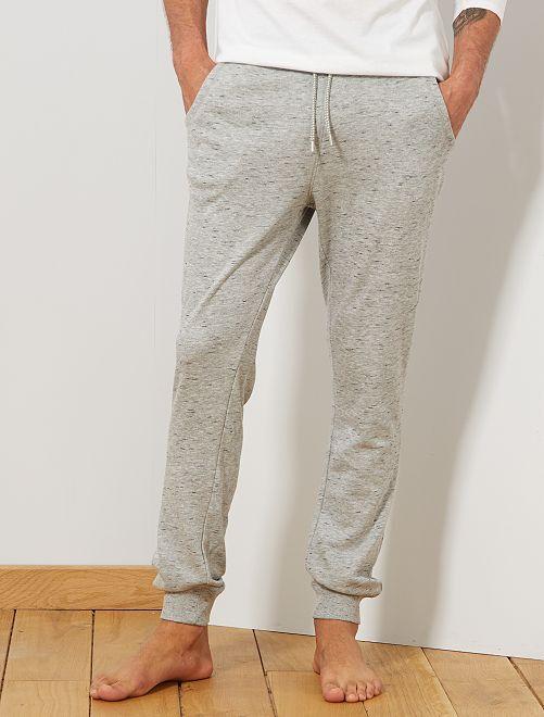 Pantalon de nuit molletonné                                                     gris clair