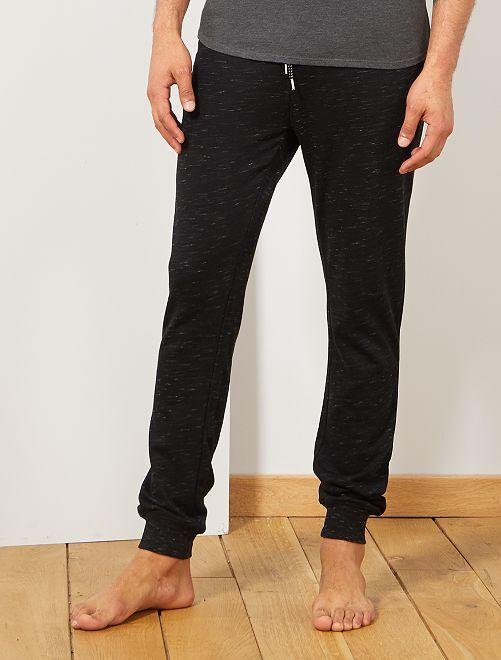 Pantalon de nuit molletonné                                                     noir