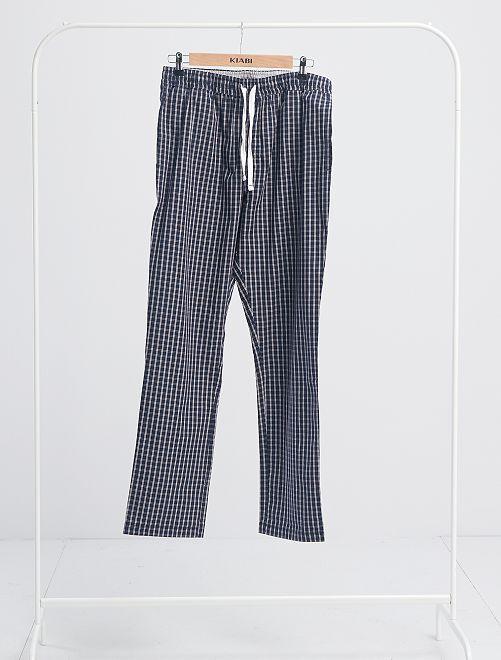 Pantalon de pyjama à carreaux                                         bleu marine carreaux
