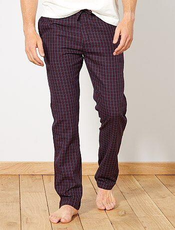 Pantalon de pyjama à carreaux - Kiabi