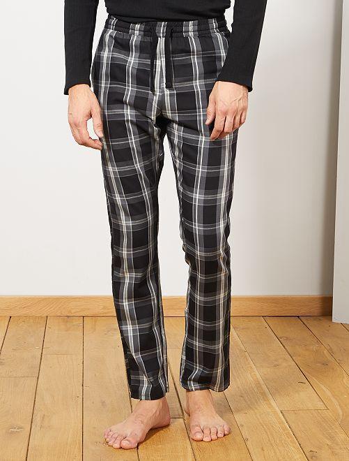 Pantalon de pyjama à carreaux                                         noir/gris