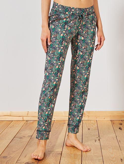 Pantalon de pyjama à fleurs                                                                 marine fleuri