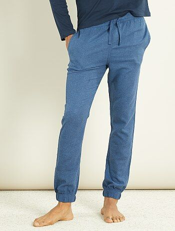 pantalon de pyjama homme bleu kiabi 8 40. Black Bedroom Furniture Sets. Home Design Ideas