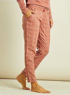 Pyjama, nuisette - Pantalon de pyjama en flanelle