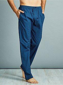 Pyjama, peignoir - Pantalon de pyjama en popeline pur coton - Kiabi