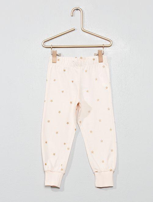 Pantalon de pyjama 'étoiles'                                         rose