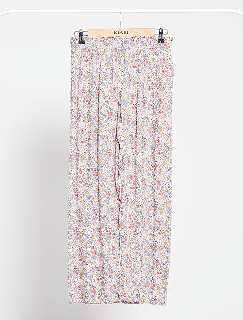 Pantalon de pyjama fluide                                         blanc