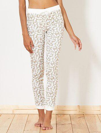 Lingerie du S au XXL - Pantalon de pyjama imprimé - Kiabi