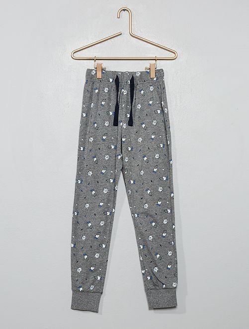 Pantalon de pyjama imprimé                                         gris chiné