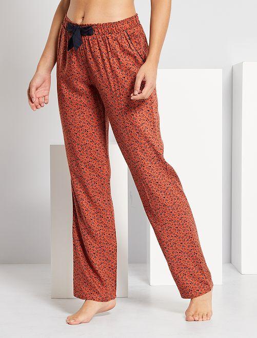 Pantalon de pyjama imprimé                                                     marron rouille