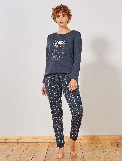 Pantalon de pyjama imprimé 'moutons'                                                                 bleu gris