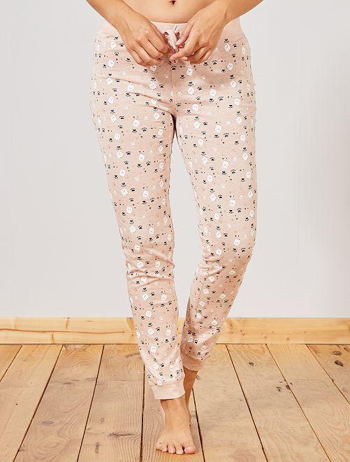 Pantalon de pyjama imprimé 'moutons'                                                                 rose
