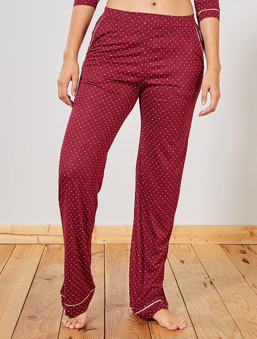 Pantalon de pyjama imprimé                                                     rouge