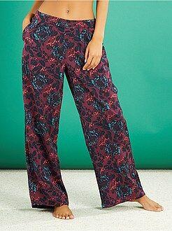 Pantalon de pyjama satiné imprimé