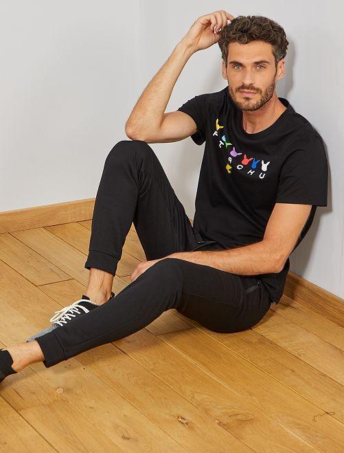 Pantalon de sport à surpiqûres                                                                 noir