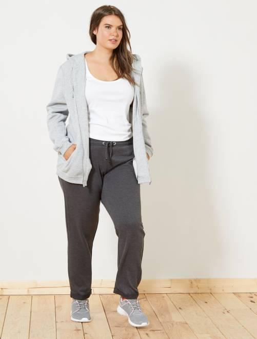 Pantalon de sport détails brillants                                         gris foncé Grande taille femme