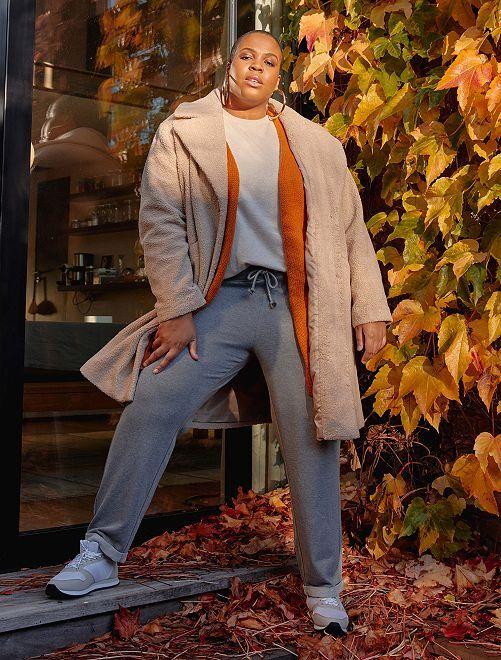 Pantalon de sport détails brillants                                         gris