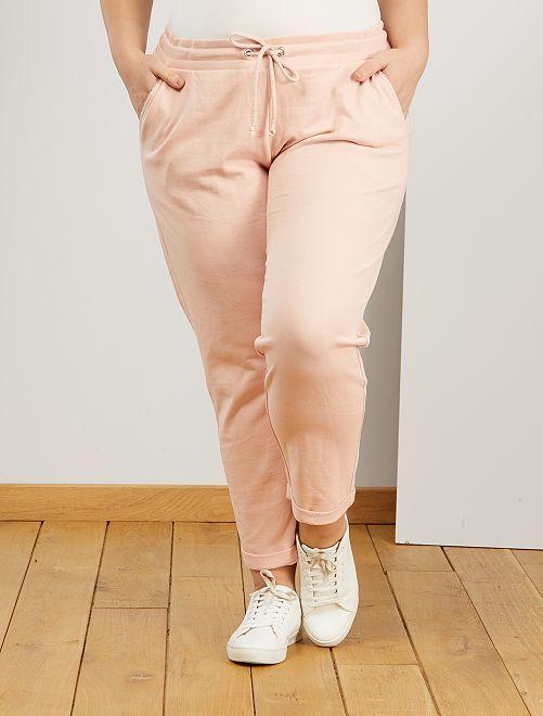 Pantalon de sport détails brillants                                                     rose