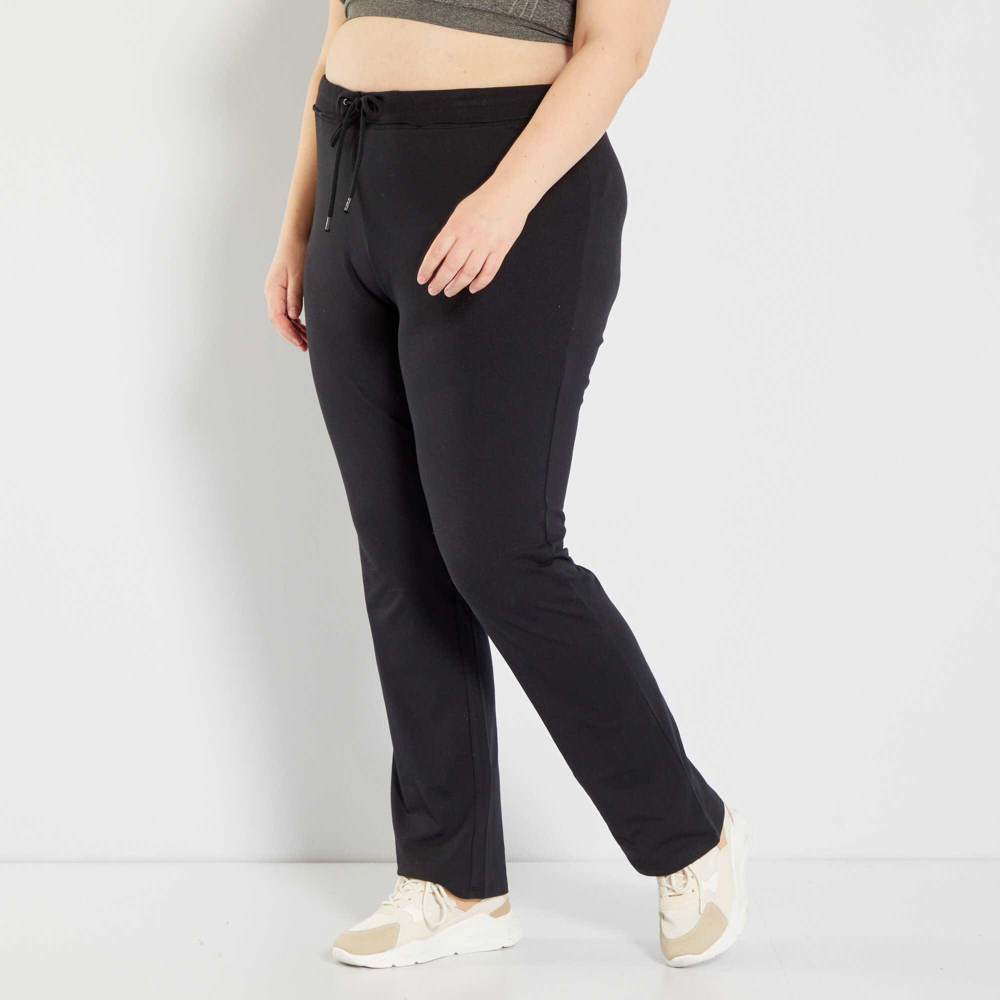 pantalon de sport en molleton grande taille femme noir kiabi 10 00. Black Bedroom Furniture Sets. Home Design Ideas