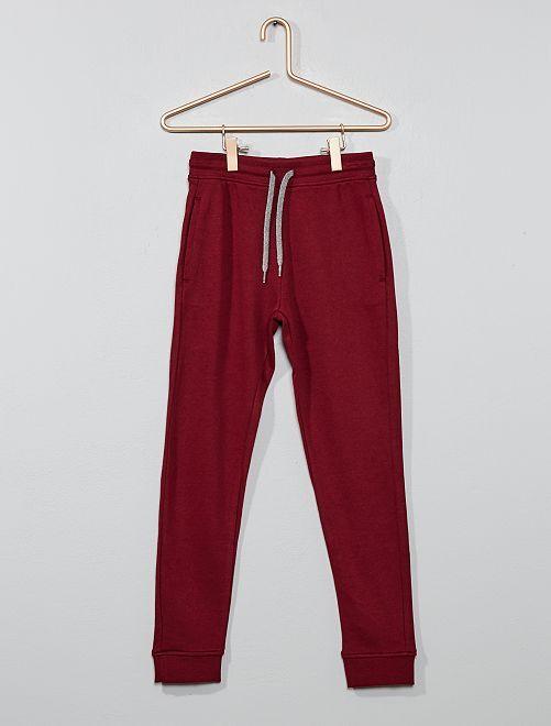 Pantalon de sport en molleton                                                                                                                                                                                                                             bordeaux