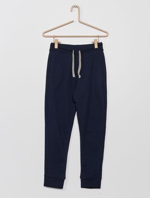 Pantalon de sport en molleton 'éco-conçu'                                                                                                                                                                                                                             bleu marine