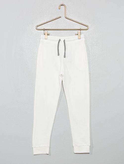 Pantalon de sport en molleton                                                                                                                                                                                                                             écru