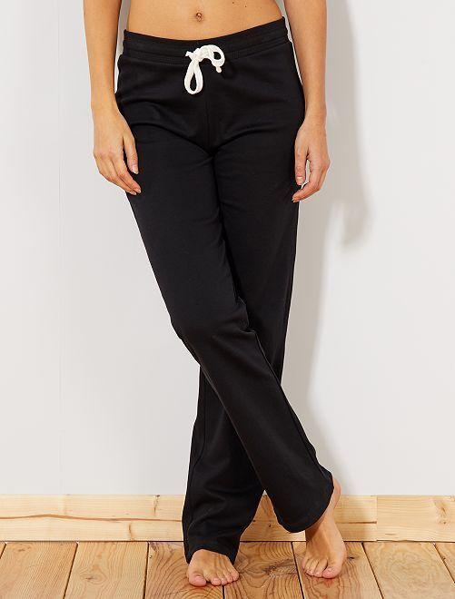 Pantalon de sport en molleton fin                                         noir Femme