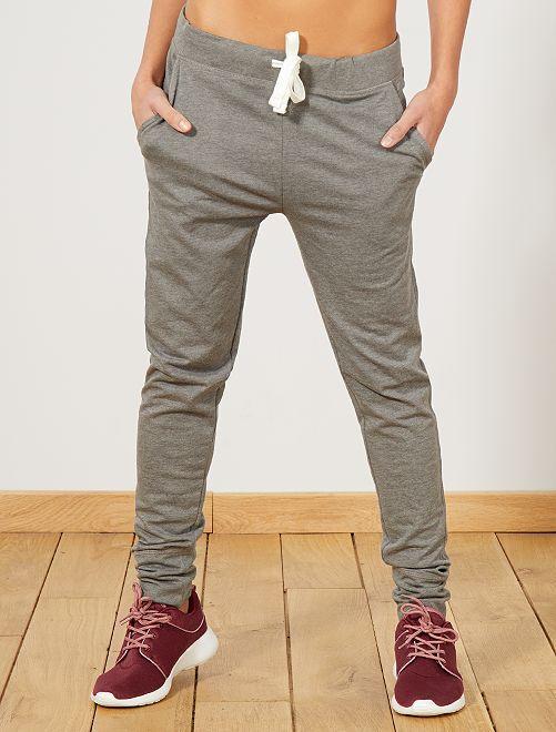 Pantalon de sport en molleton                                                     gris chiné moyen