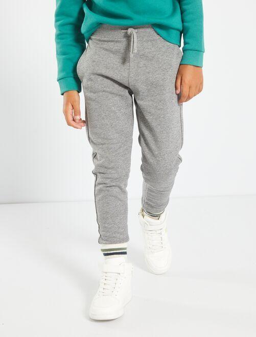 Pantalon de sport en molleton                                                                                                                                                                                                                             gris