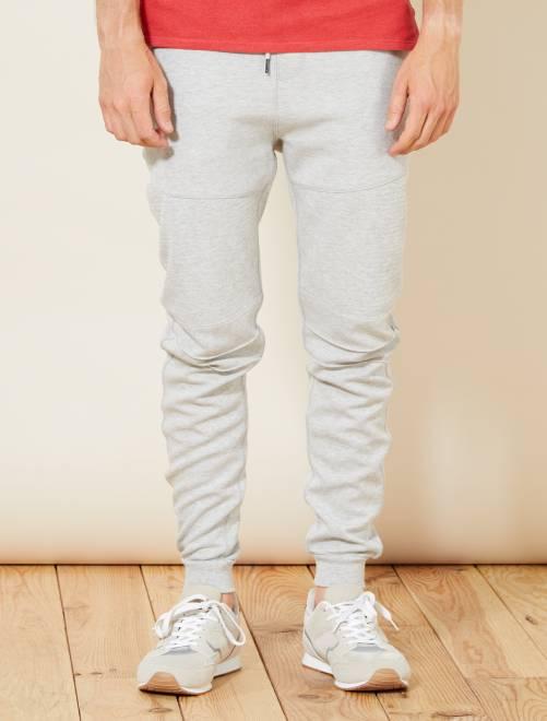 Pantalon de sport en molleton léger                                         gris clair chiné Homme