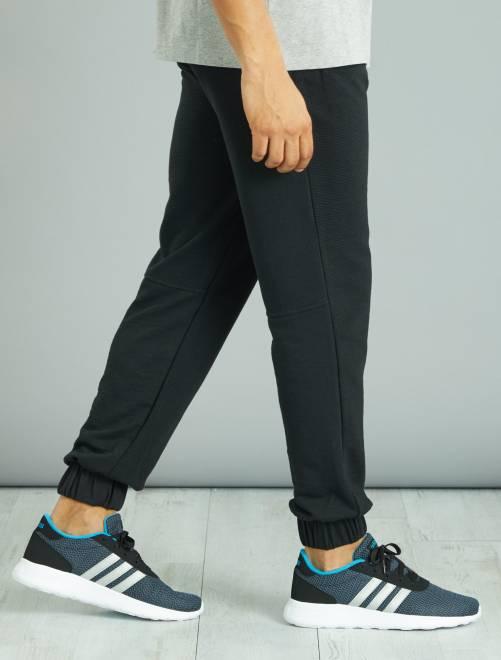pantalon de sport en molleton l ger textur homme bleu marine kiabi 9 20. Black Bedroom Furniture Sets. Home Design Ideas