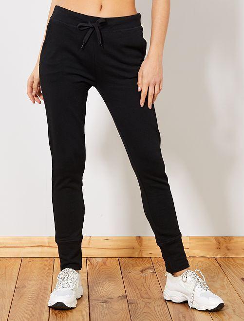 Pantalon de sport en molleton                                                     noir Femme