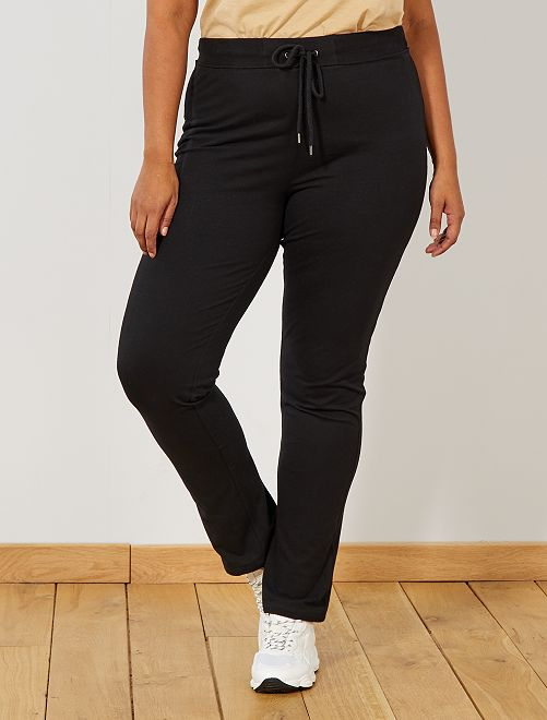 Pantalon de sport en molleton                              noir Grande taille femme