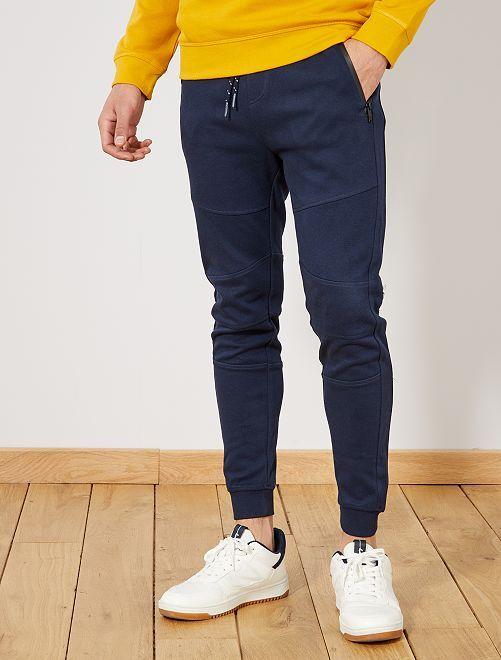 e965cd3be3 Pantalon de sport en piqué de coton Homme - noir - Kiabi - 17,00€