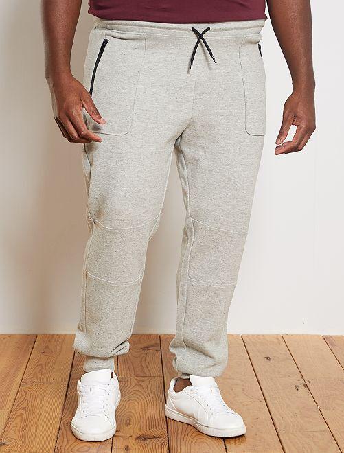 Pantalon de sport en piqué                             gris clair