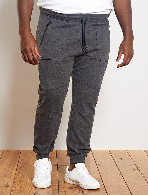 Pantalon de sport en piqué                             gris