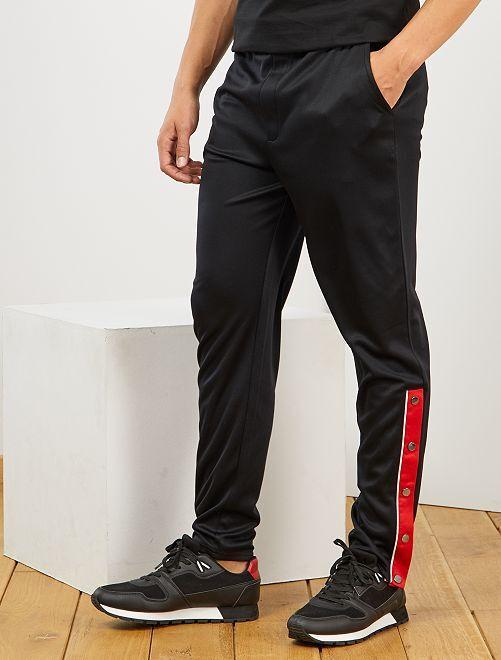 Pantalon de sport esprit vintage                                         noir