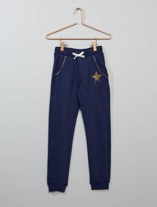 Pantalon de sport molleton                                             bleu foncé Fille