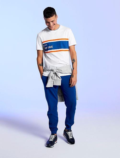 Pantalon de sport molletonné                             bleu
