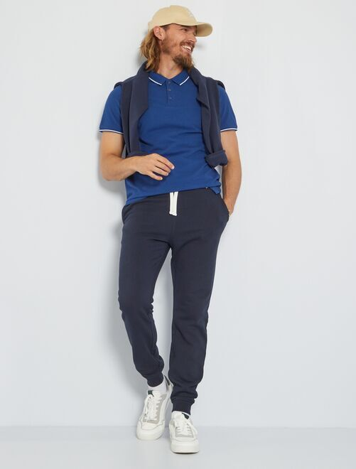 Pantalon de sport molletonné                                                                 bleu marine