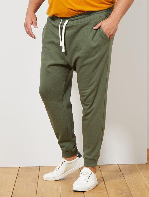 Pantalon de sport molletonné                                                     kaki