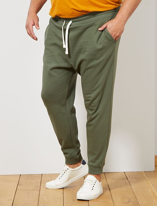 Pantalon de sport molletonné                                                                 kaki Grande taille homme