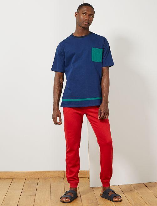 Pantalon de sport molletonné                                                                 rouge