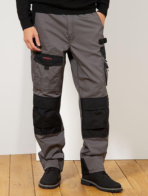 Pantalon de travail bicolore                             anthracite/noir