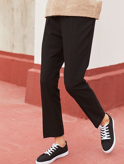 Pantalon de ville droit                                                                 noir Femme