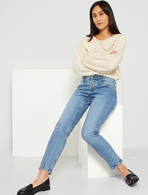Pantalon denim découpe western éco-conçu                                                     double stone