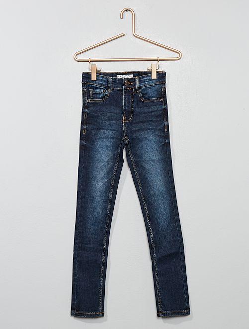 Pantalon denim délavé                                         bleu