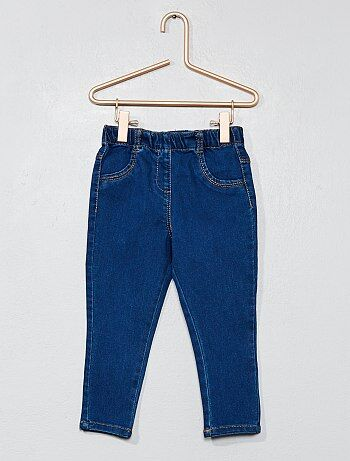Pantalon denim style tregging - Kiabi
